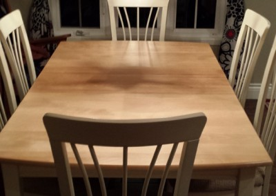 Reparation et restauration de table a Quebec - atelier claude